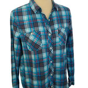 Levis Workwear Boyfriend Flannel Button Down Shirt